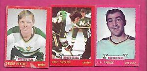 1973-74-OPC-MINNESOTA-NORTH-STARS-CARD-LOT-INV-J0163