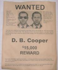 D.B. Cooper Wanted Poster, Hijacker, Skyjacker, Robber, Criminal, DB, D B