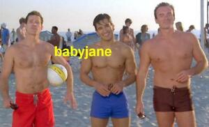 Details About 052 Mario Lopez Julian Mcmahon Dylan Walsh Nip Tuck Barechested At Beach Photo