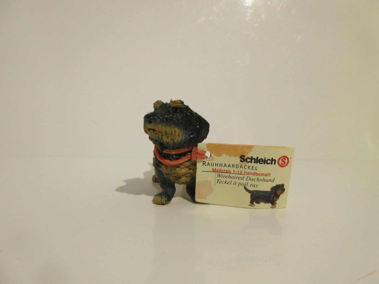 16317 Schleich Dog: Wirehairosso Dachshund booklet ref:21P36