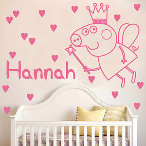 Great Image Is Loading Peppa Pig Wall Sticker With Personalised Name And  Part 6