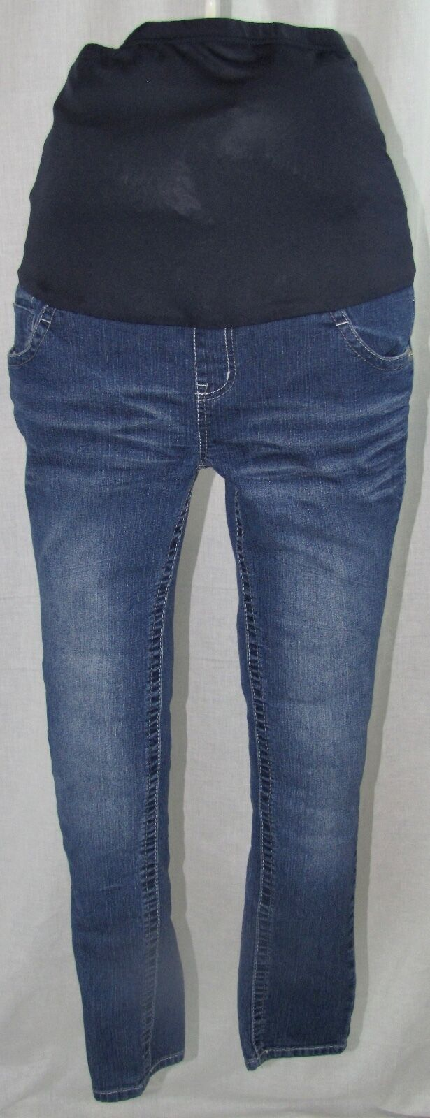 Paris bluees Maternity Jeans S Full Panel Skinny Medium Wash Small Denim Pants