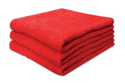 Deluxe 3 pièces 100/% coton nid d/'abeilles serviettes de bain 71CM x 140CM