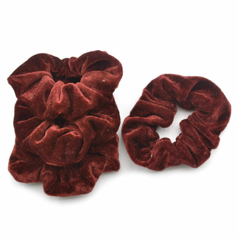 4Pcs Candy Elastic Accessories Hair Scrunchie Ponytail Holder Scrunchy Hairband