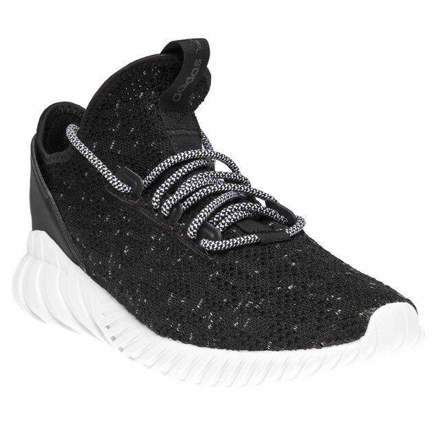 new style 015e8 62988 New Mens adidas Black Tubular Doom Sock Primeknit Textile Trainers Running  Style