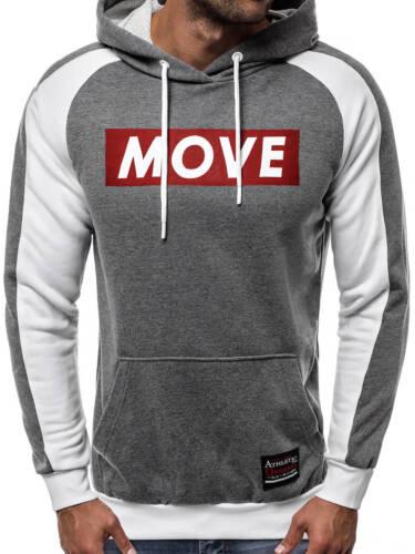 OZONEE A//0964 Herren Kapuzenpullover Sweatshirt Pullover Hoodie Aufdruck