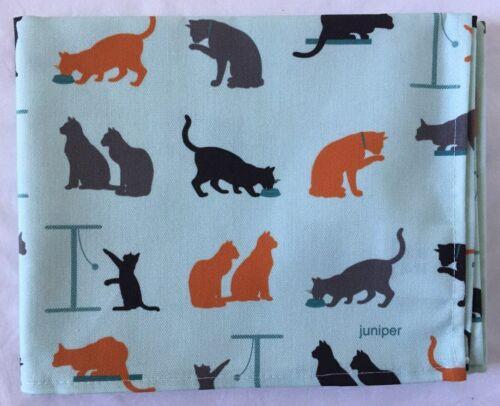 Chat Torchon avec Ginger gris et noir chats Juniper Brand