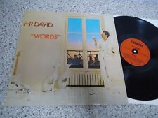 LP F-R F.R. DAVID - WORDS 1982