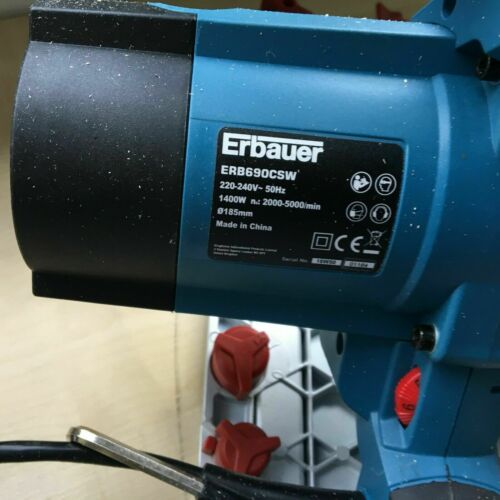 TWO TRACKS Erbauer ERB690CSW 185mm Plunge Track Saw 240v