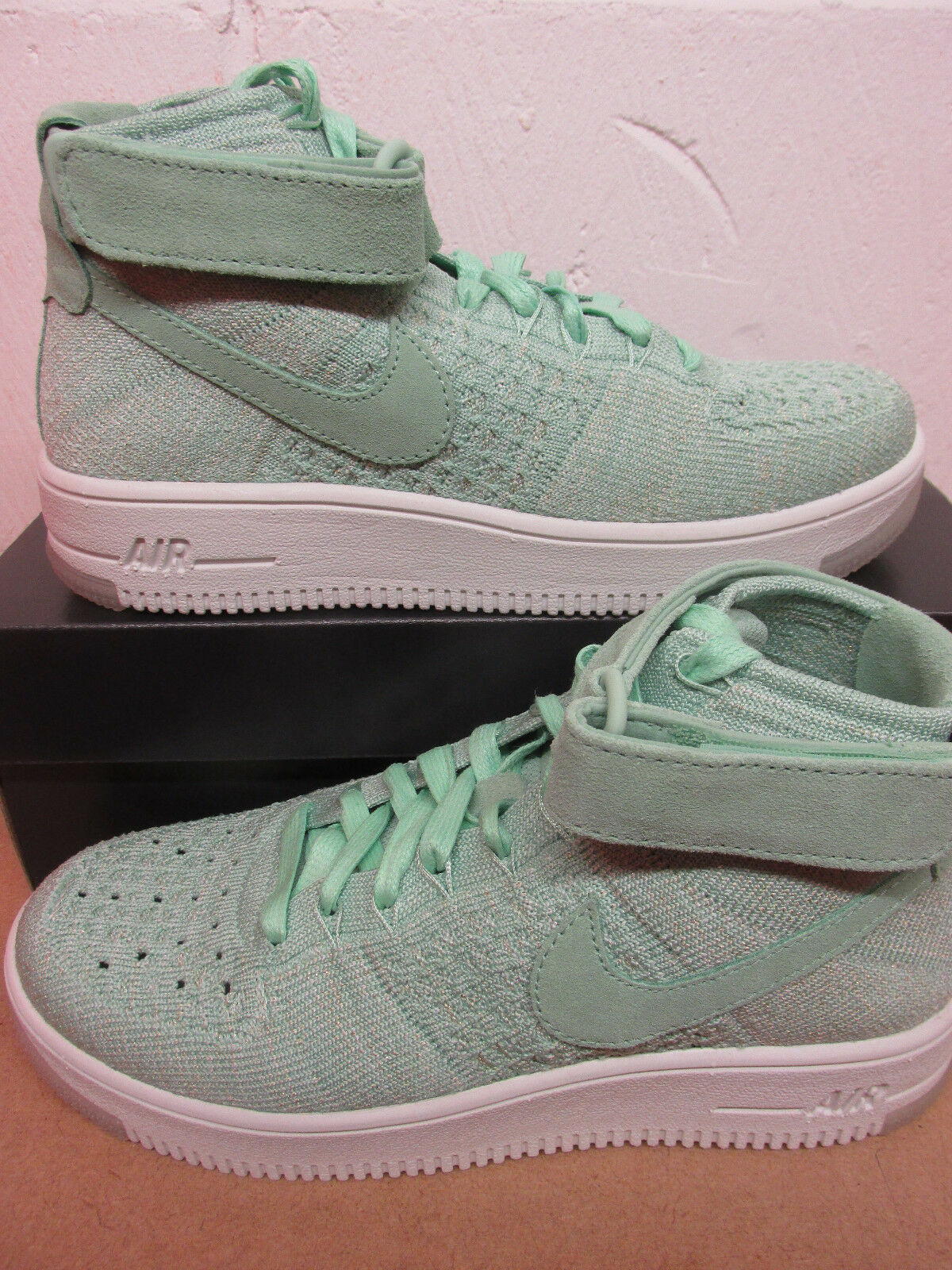 Nike Femmes AF1 Air Force 1 Flyknit Baskets Montantes 818018 301 Baskets