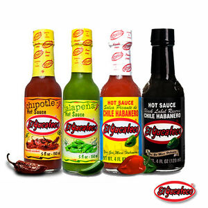 Mexican-Chilli-Sauce-El-Yucateco-Salsa-4-Bottles-Saver-Pack-4-x-120ml