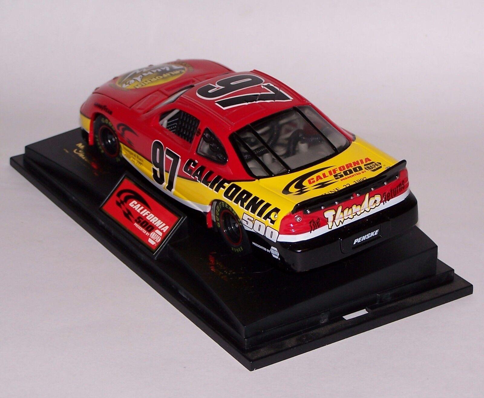 California 500 Inaugural Race 97 Nascar Pace Car 1 24 24 24 Pontiac Grand Prix NIB COA 7b3a27