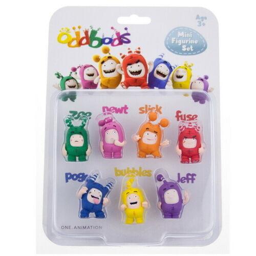 One Animation RP2 Toys Brand New Oddbods Mini Figurine Set 7 pcs