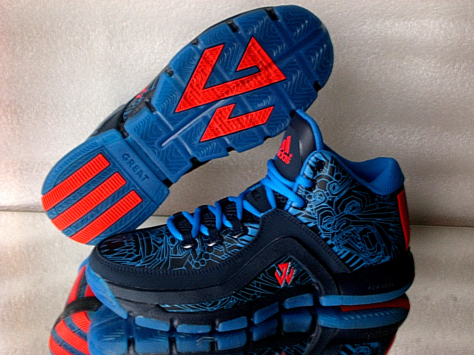 Adidas Originals J WALL 2,0 F37132 Lauf-Turnschuhe Mens Sneaker Farbe Blau Neu