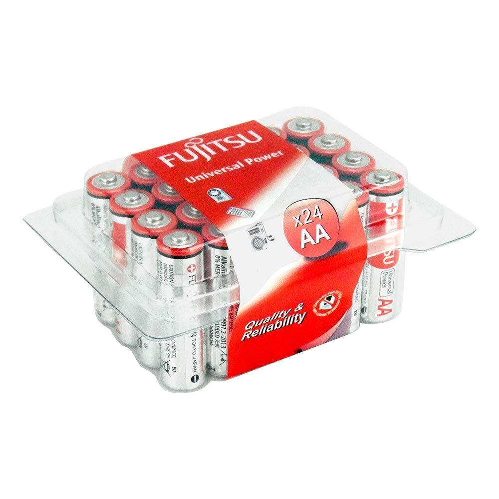 24x Fujitsu AA Batteries Universal High Power Alkaline AA Battery - Value Pack