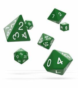 Oakie Doakie Dados RPG Cubo Set Solid Verde (7) Rol Cubo Box Verde