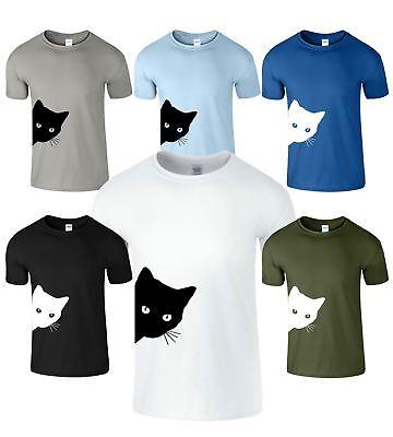 Summer Cat Da Uomo Bambini Kitty Stampato T-shirt Manica Corta Ragazzi Ragazze T-shirt Top-mostra Il Titolo Originale