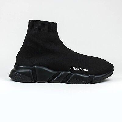 100% Auth New Hommes Balenciaga Knit Vitesse Chaussette Triple Noir Baskets Runner | eBay
