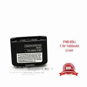s fit YAESU Vertex VX-5R VX-6R VX-7R 2-Way Radios 2 x FNB-58Li FNB-80Li Battery