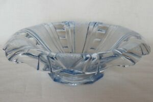 Bagley/sowerby/davidson Frog Vintage 1930 Blue Bagley Art Deco Frosted Glass Somerset Bowl 3170 Pottery, Porcelain & Glass