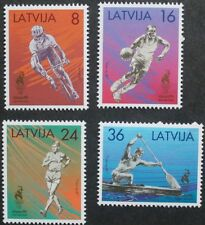 Latvia, Olympic games Atlanta stamps, Cycling, Basketbal 1996, Ref: 445-448, MNH