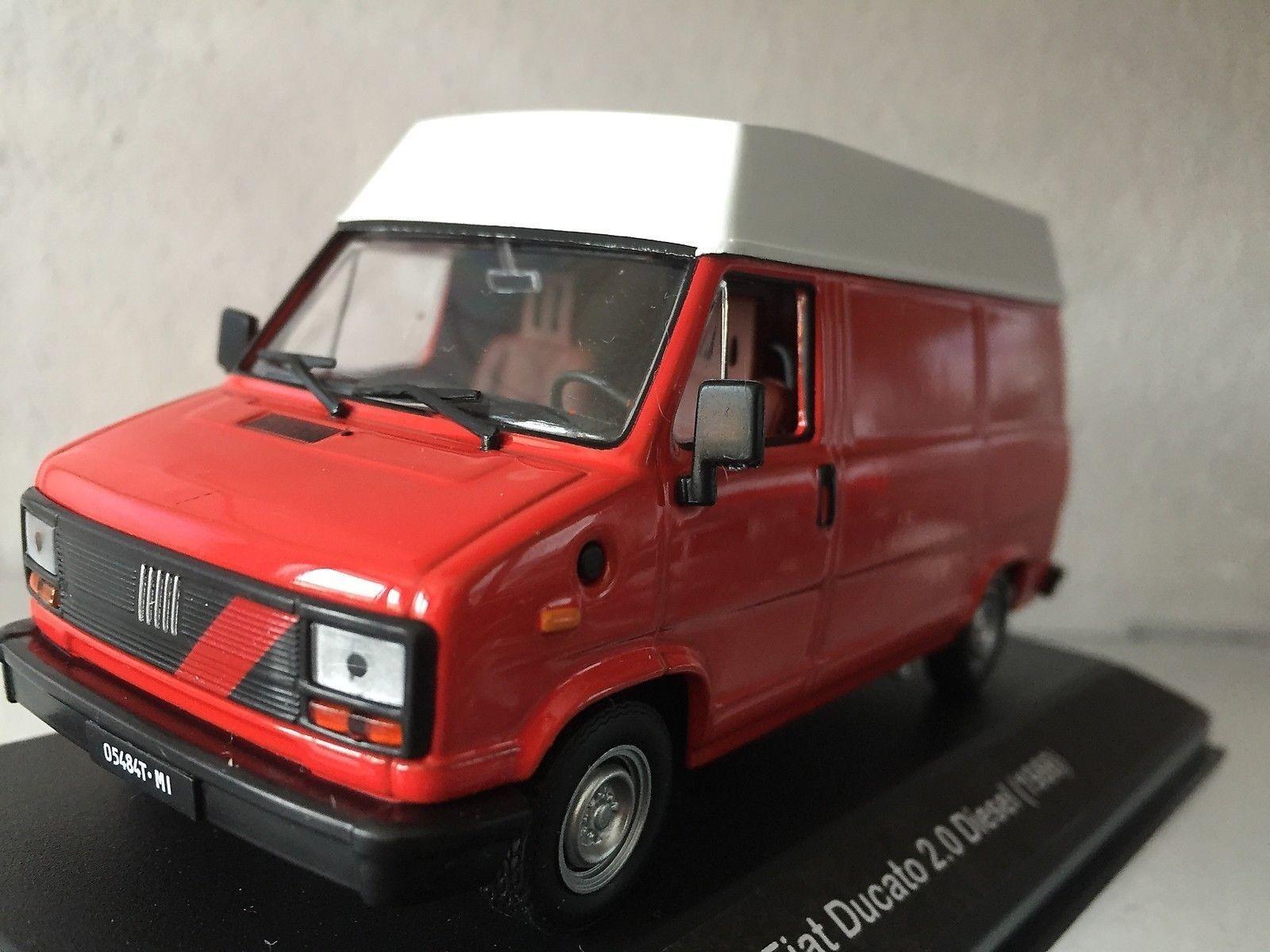 426 Fiat Ducato 2.0 Diesel (1986) rot - DIE CAST 1 43