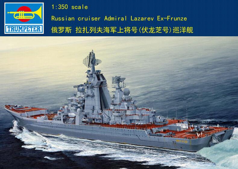 04521 Trumpeter Plastic Model DIY 1 350 Russian Cruiser Admiral Lazarev Warship