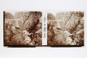 Corsica Vallée Da L Orbo Placca Lente Stereo Positivo 6x13cm Vintage