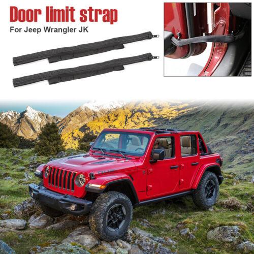 2X Car High Strength Door Limit Strap Bandage Rope For Jeep Wrangler JK 2007-17