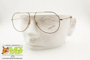 Volto Mod. Uomo 1004 Squared Vintage Aviator Frame, Men's Eyeglasses, Nos New Couleurs Fantaisie