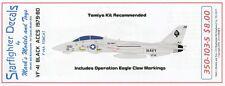 STARFIGHTER DECALS 1/350 F14A Tomcat VF41 Black Aces 1979-80 & Opera SFA350103S