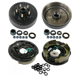 """New 5 on 5/"""" Complete Kit Trailer Electric Brakes Hub Drums For 3500 lb Axle"""
