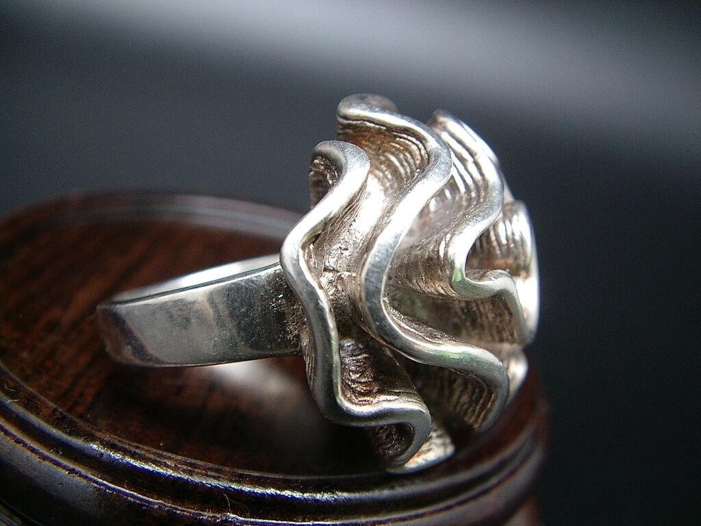 ANCIENNE BAGUE silver 925 ART DECO pink size 50 16g