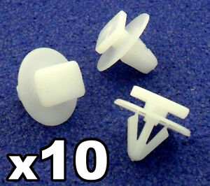 10x-Vauxhall-Corsa-C-Rueda-Arch-Trim-Clips-Sujetadores-Para-Exterior-De-Plastico-Adornos