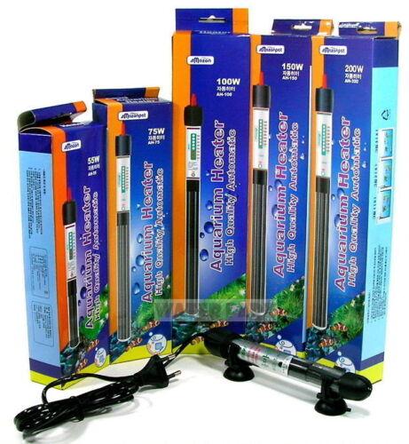Automatic Warm FishBowl Aquarium Water Stainless Heater Underwater Brand New ige