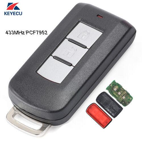 Remote Key Fob 2 Button 433Mhz ID47 for Mitsubishi Lancer Outlander ASX 2008-16