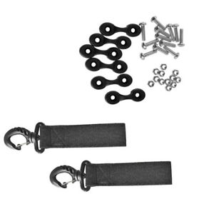 Universal 2x Kayak Paddle Clips Side Mount 12 Screws and Nuts 6 Pad Eyes