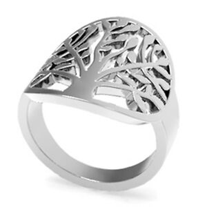 Size-4-12-Stainless-Steel-Leaf-Ring-Tree-of-Life-Mother-Leaf-Daughter-Wife-Gifts