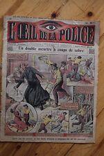 Rarissime L' OEIL DE LA POLICE 1A/27 Un double meurtre à coups de sabre