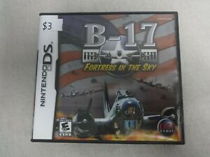 B-17-Fortress-In-The-Sky-Nintendo-DS-Video-Game-amp-Case-No-Manual-Free-Ship