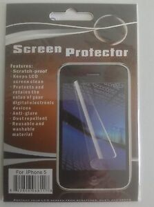10X-Anti-Glare-HD-Screen-Protector-Cover-Guard-For-Apple-iPhone-5-5C-5S