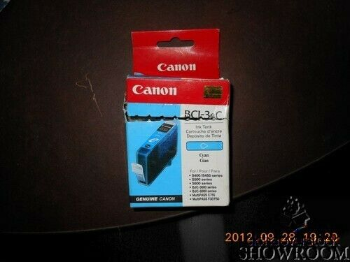 New Open Box Sealed Bag Genuine OEM Canon BCI-3eC Cyan Ink Catrtidge 2702G30