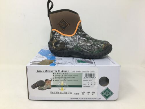 NEW Muck Youth Muckster Low Pull On Shoes Brown//Camo #MAK-RTX h12 a