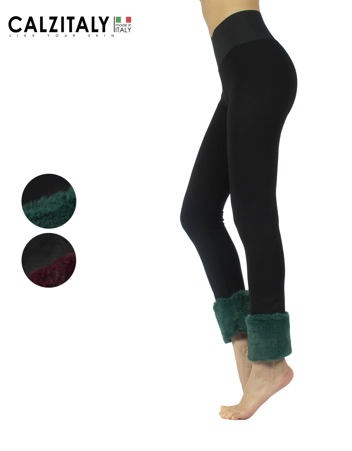 Push Up Leggings with Faux Fur, Stretchy Shaper Leggings Fashion, XS, S, M, L,