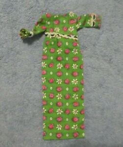 Vintage Francie Clothes - Vintage Francie 1267 Go Granny Go Long Green Dress