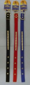 3-BRAND-NEW-22-034-STUDDED-NYLON-DOG-COLLARS-FREE-SHIPPING