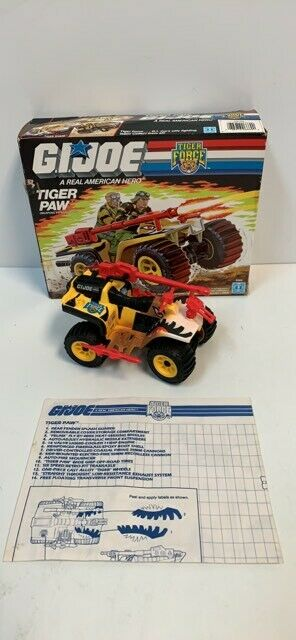 Hasbro Gi Joe Real American Hero 3.75  1988 Tiger Paw véhicule complet avec boite