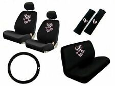 New Safari Hearts Zebra Print Front & Back Car Seat Covers Steering Wheel Cover