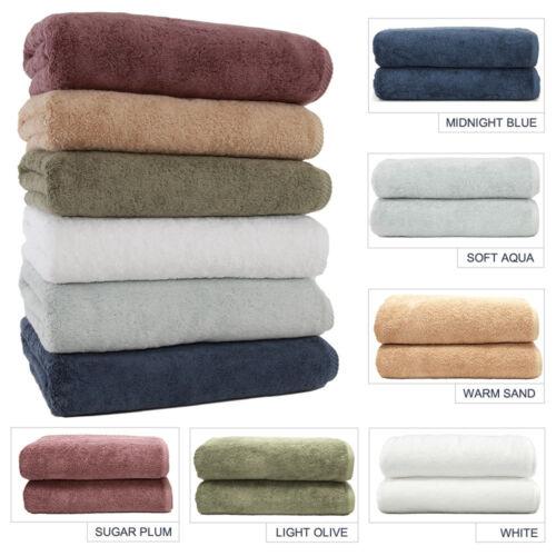 Set 2 Linum Luxury Hotel Collection Soft Twist 100/% Turkish Cotton Bath Towels