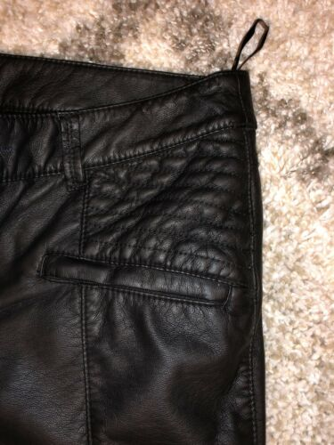 Free People Faux Leather Skinny Moto Pants Ankle Z